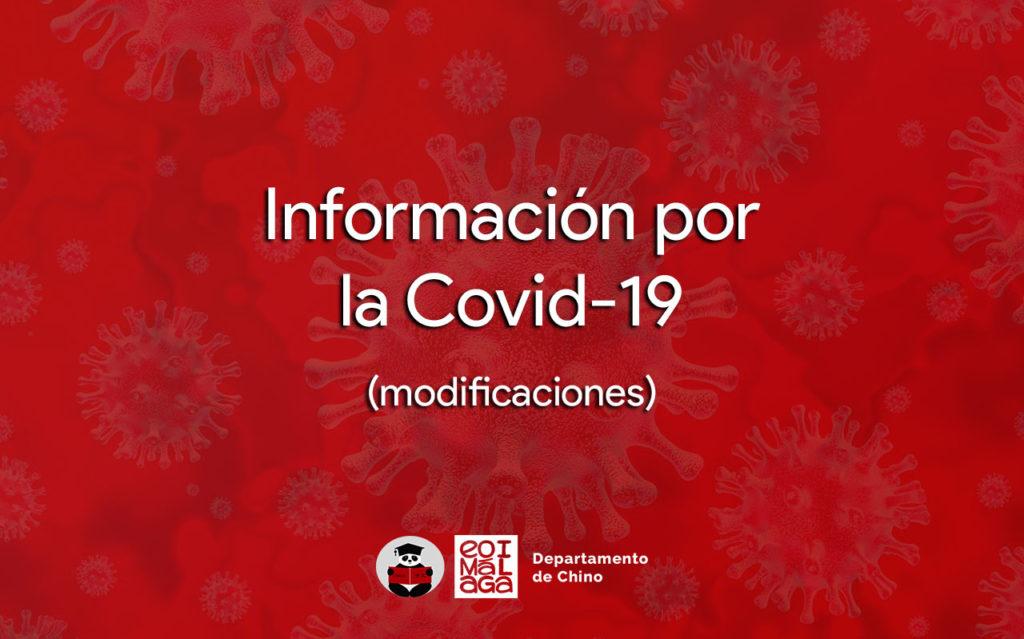 Información: Cambios por la COVID-19